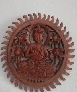 Buda Tallado Pared