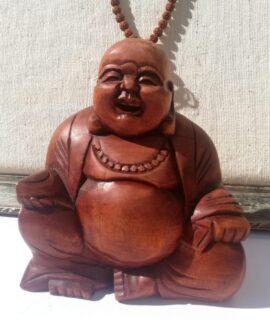 Happy Buda De Madera Tallado