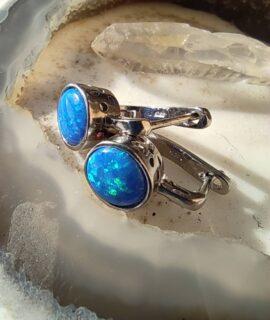 Pendiente De ópalo Azul Con Plata 925g
