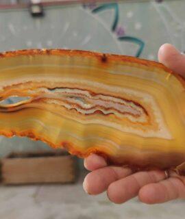 Lámina De ágata Natural Cristalizada