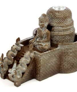 Quemador De Incienso De Reflujo Buda Tailandés Con Conos