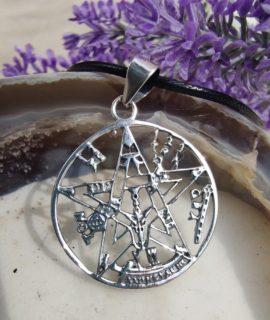 Colgante De Plata Con Tetragramaton, Plata 925g