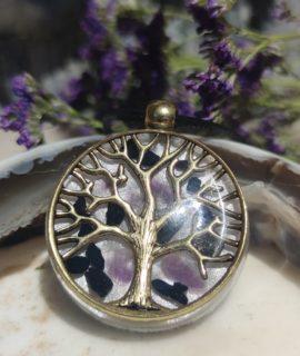 Colgante Orgonita árbol De La Vida Con Shungit Y Amatista