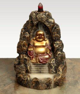 Quemador De Incienso De Reflujo Buda Chino Con Conos